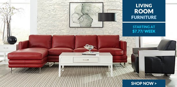 Living room furniture on credit finance lease